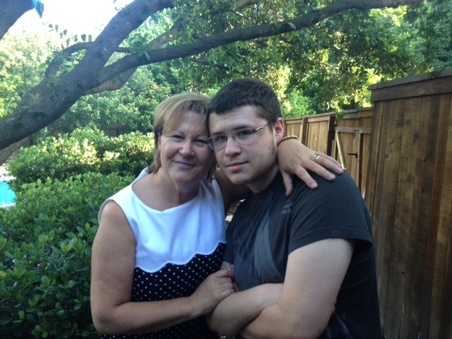 Dr. Marta Katalenas and her son with Autism